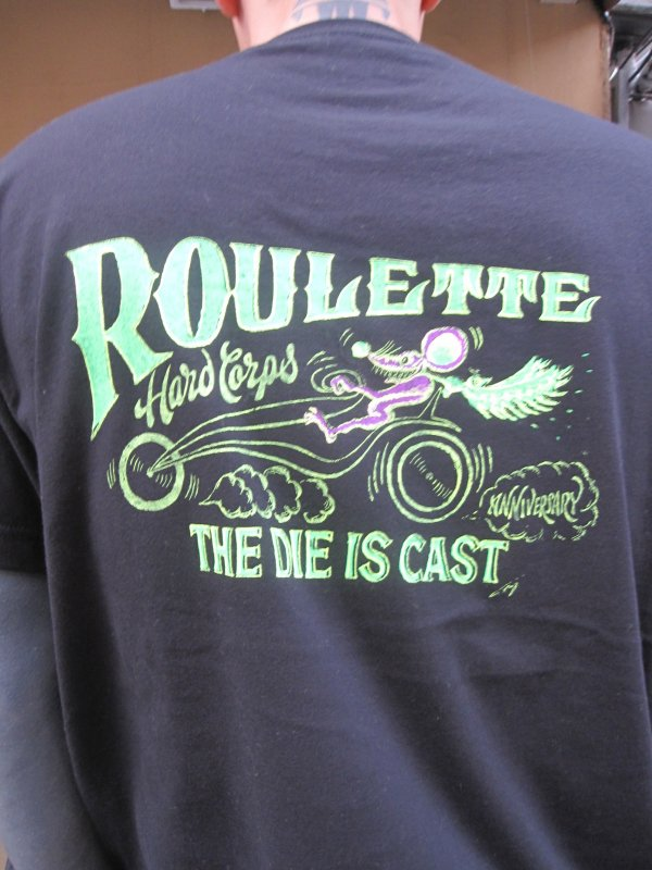 【Roulette】R&B Tee Neon Ver. by Fusty works (BLACK)