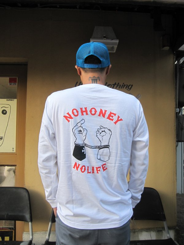 【HONEY WORKS】N.H.N.L L/S Tee WHITE