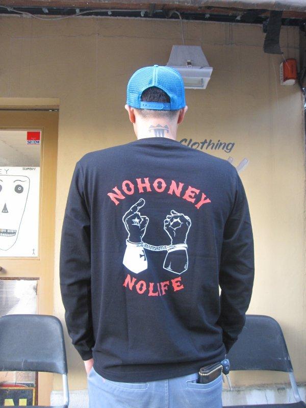 【HONEY WORKS】N.H.N.L L/S Tee BLACK