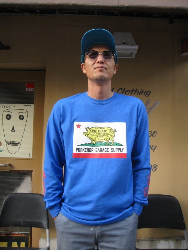 【PORKCHOP GARAGE SUPPLY】PORK CHOP CALIF L/S TEE
