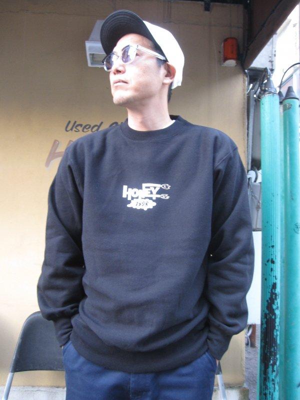 【HONEY WORKS】HONEY 1998 LOGO SWEAT (BLACK)