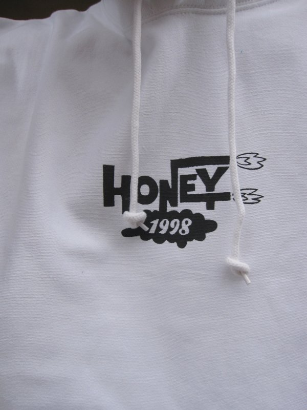 【HONEY WORKS】HONEY 1998 LOGO HOODIE (WHITE) 2