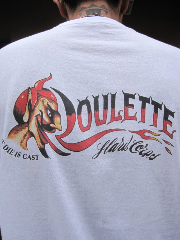 【Roulette】22th anniv. DEVIL Tee by Fusty works / WHITE