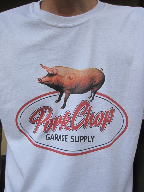 【PORKCHOP GARAGE SUPPLY】SCRIPT PORK TEE /  WHITE 3