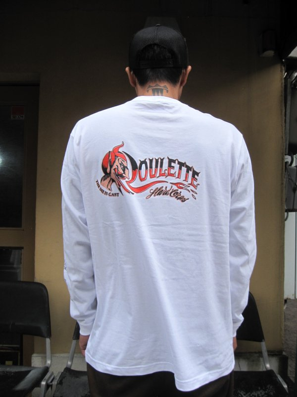 【Roulette】22th anniv. DEVIL L/S Tee by Fusty works / WHITE