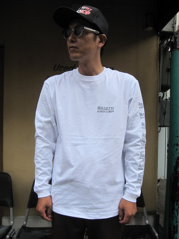 【Roulette】22th anniv. DEVIL L/S Tee by Fusty works / WHITE 2