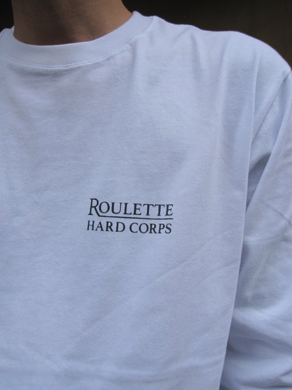 【Roulette】22th anniv. DEVIL L/S Tee by Fusty works / WHITE 3