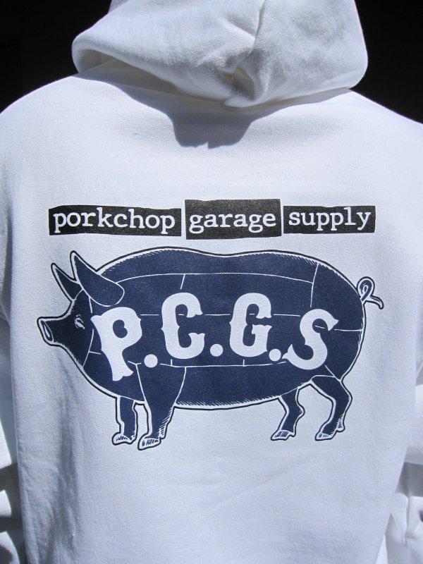 【PORKCHOP GARAGE SUPPLY】 SPEED SLAVE HOODIE / WHITE