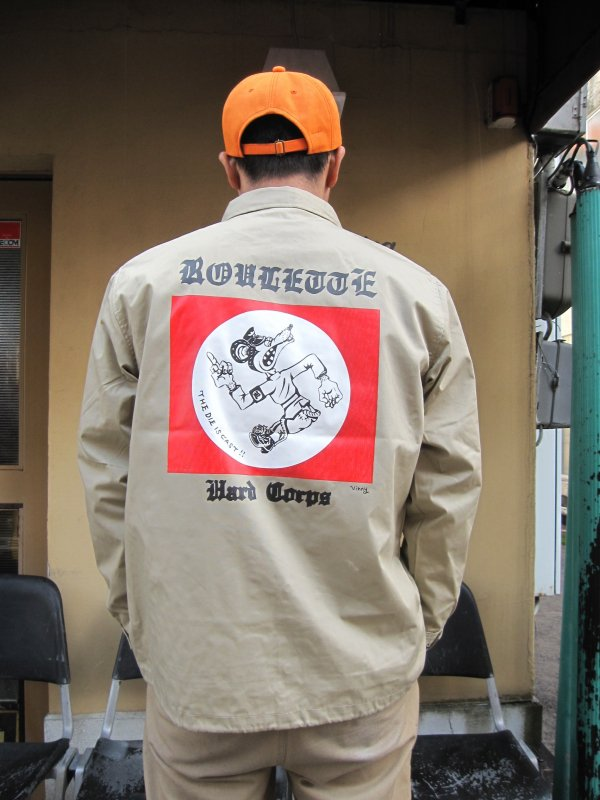 【ROULETTE】 卍 RATS COACH JACKET by vinny / BEIGE 3