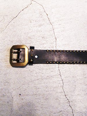 【HONEY WORKS】Studs Leather Belt 3