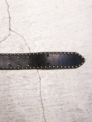 【HONEY WORKS】Studs Leather Belt 4