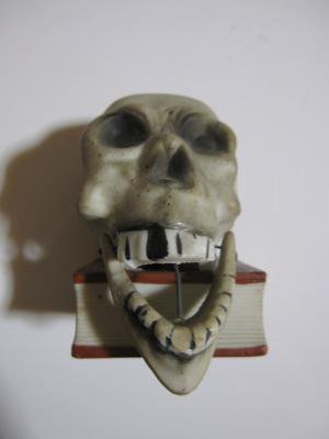 【Vintage】skull on book