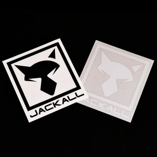 JKカッティングステッカースクエア【ブラック】(サイズ:L)