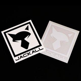 JKカッティングステッカースクエア【ホワイト】(サイズ:L)