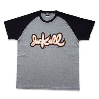 TシャツTYPE-D01【ヘザーグレー&ブラック/オレンジ】