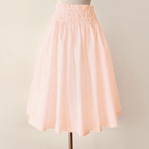 ピンク シャンタン パウスカート