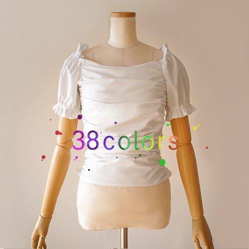 【全38色】袖付き チューブトップ
