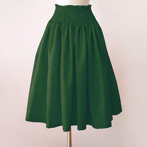 グリーン シャンタン パウスカート