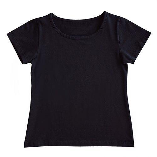 【3Lサイズ】半袖 黒色 フラTシャツ 無地