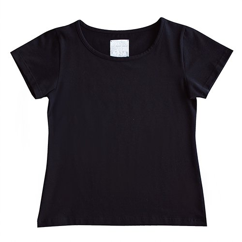 【5Lサイズ】半袖 黒色 フラTシャツ 無地
