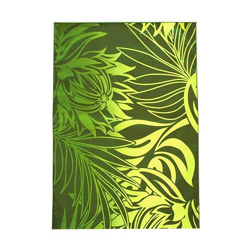 シンプルな袋 深緑色×緑色 プロテア柄