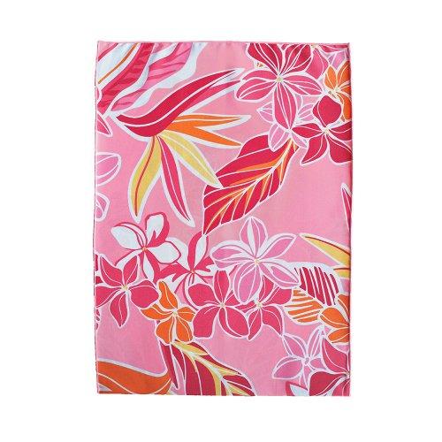 シンプルな袋 ピンク色 プルメリア ストレリチア柄
