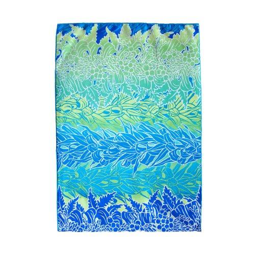 シンプルな袋 青色 レイ柄