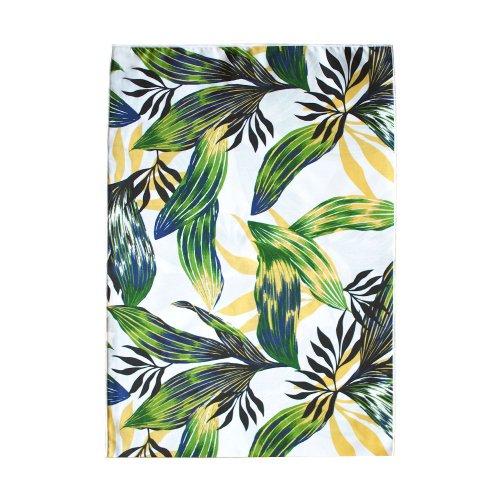 シンプルな袋 黄色×緑色 ティーリーフ柄
