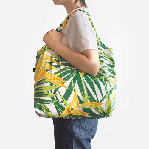 ハワイアンエコバッグ イエロー×グリーン 椰子柄