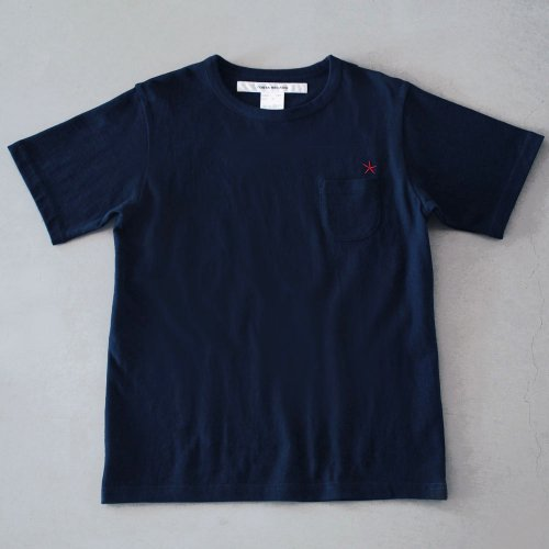 "T-shirt 7.8oz navy ""hitode"" with pocket"