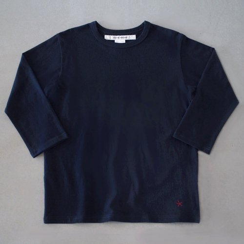 "T-shirt 7.8oz three-quarter sleeves navy ""hitode"""