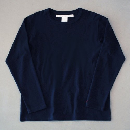 "T-shirt 7.8oz long sleeve navy ""hitode"""