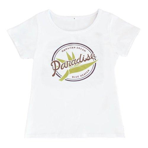 【Sサイズ】半袖 白色 フラTシャツ バードオブパラダイス