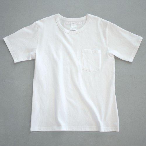 【CORTADO】T-shirt 7.8oz solid white with pocket