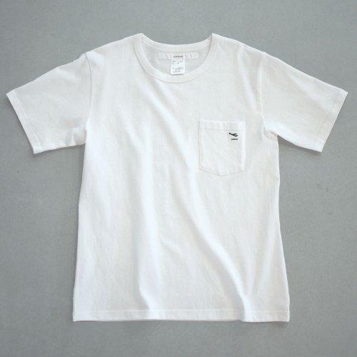 "【CORTADO】T-shirt 7.8oz white ""departure"" with pocket"