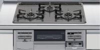 リンナイ製(LIXIL)R3634B0WHV 3口コンロ・ホーロートップタイプ ●ガスコンロ