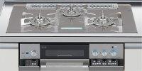 リンナイ製(LIXIL)R3736C1W7T 3口コンロ・ガラストップ・スタイリッシュタイプ ●ガスコンロ