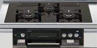 リンナイ製(LIXIL)R3736D1W1K 3口コンロ・ガラストップ・スタイリッシュタイプ ●ガスコンロ