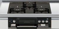 リンナイ製(LIXIL)R3636D1W1K 3口コンロ・ガラストップ・スタイリッシュタイプ ●ガスコンロ