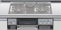 リンナイ製(LIXIL)R3636D1W7T 3口コンロ・ガラストップ・スタイリッシュタイプ ●ガスコンロ