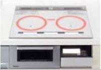 パナソニック製(Panasonic)QSSXP36WK 3口IH 鉄・ステンレス対応 ▽IHクッキングヒーター