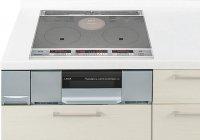 パナソニック製(Panasonic)QSSG32AST 2口IH+ラジエント 鉄・ステンレス対応 ▽IHクッキングヒーター