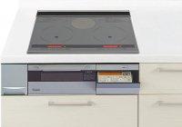 パナソニック製(Panasonic)QSSLH6SK 2口IH+ラジエント 鉄・ステンレス対応 ▽IHクッキングヒーター