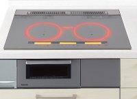 パナソニック製(Panasonic)LESXSF37SK 3口IH 鉄・ステンレス対応 ▽IHクッキングヒーター
