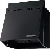 富士工業製(Panasonic)QSE63AH2F2 間口75cm ブラック 壁付けタイプ ブーツ型プロペラファン ★レンジフード ※納期約2週間