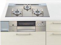 ハーマン製(Panasonic)JUGSDS05WS 3口コンロ・ガラストップタイプ ●ガスコンロ