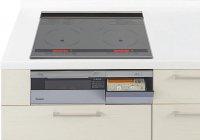パナソニック製(Panasonic)JUGSLX6SK 3口IH 鉄・ステンレス対応 ▽IHクッキングヒーター
