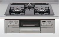 クリナップ ZGGZK6A14DSK-E 3口コンロ・ガラストップタイプ ●ガスコンロ