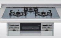 クリナップ ZGGRK6R16FSS-K 3口コンロ・ガラストップタイプ ●ガスコンロ