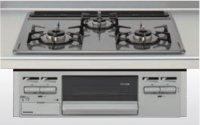 クリナップ ZGFNK6R14QSE-K 3口コンロ・ホーロートップタイプ ●ガスコンロ
